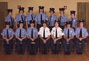 A photograph of Simsbury's Junior Firefighters taken in 1979 for our 35th Anniversary.